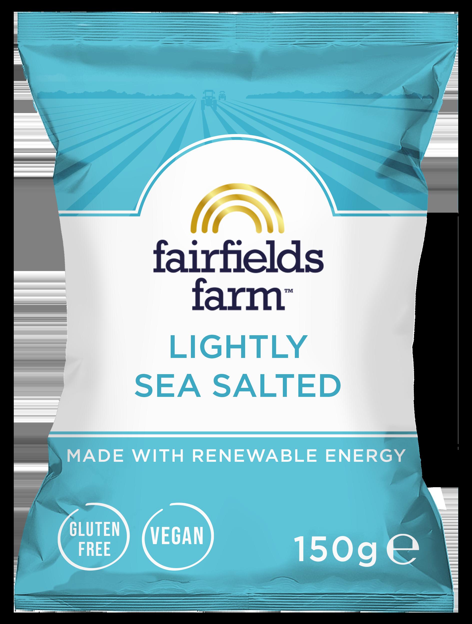 Fairfields 12 x 150g Bags – Lightly Sea Salted