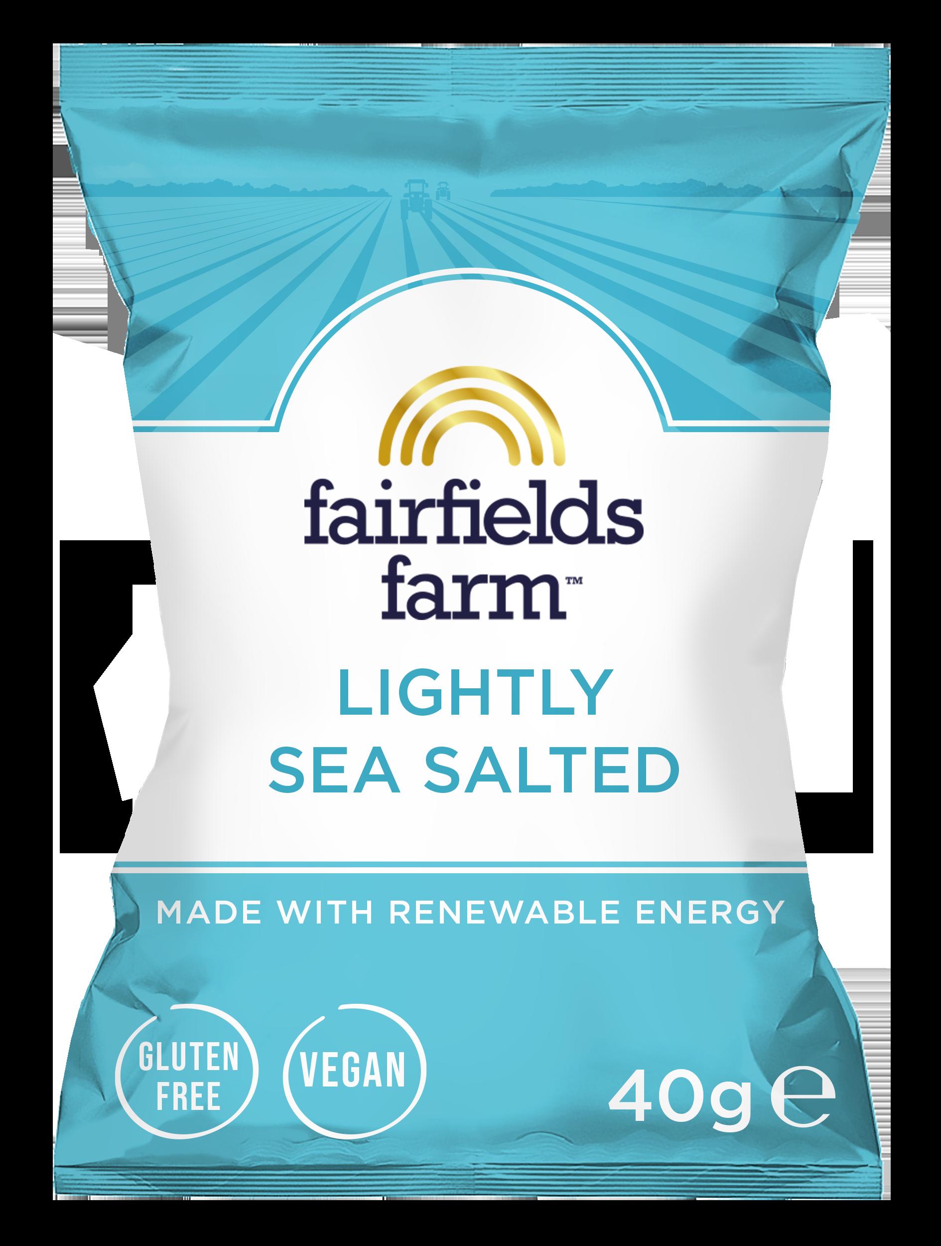 Fairfields 24 x 40g Bags – Lightly Sea Salted