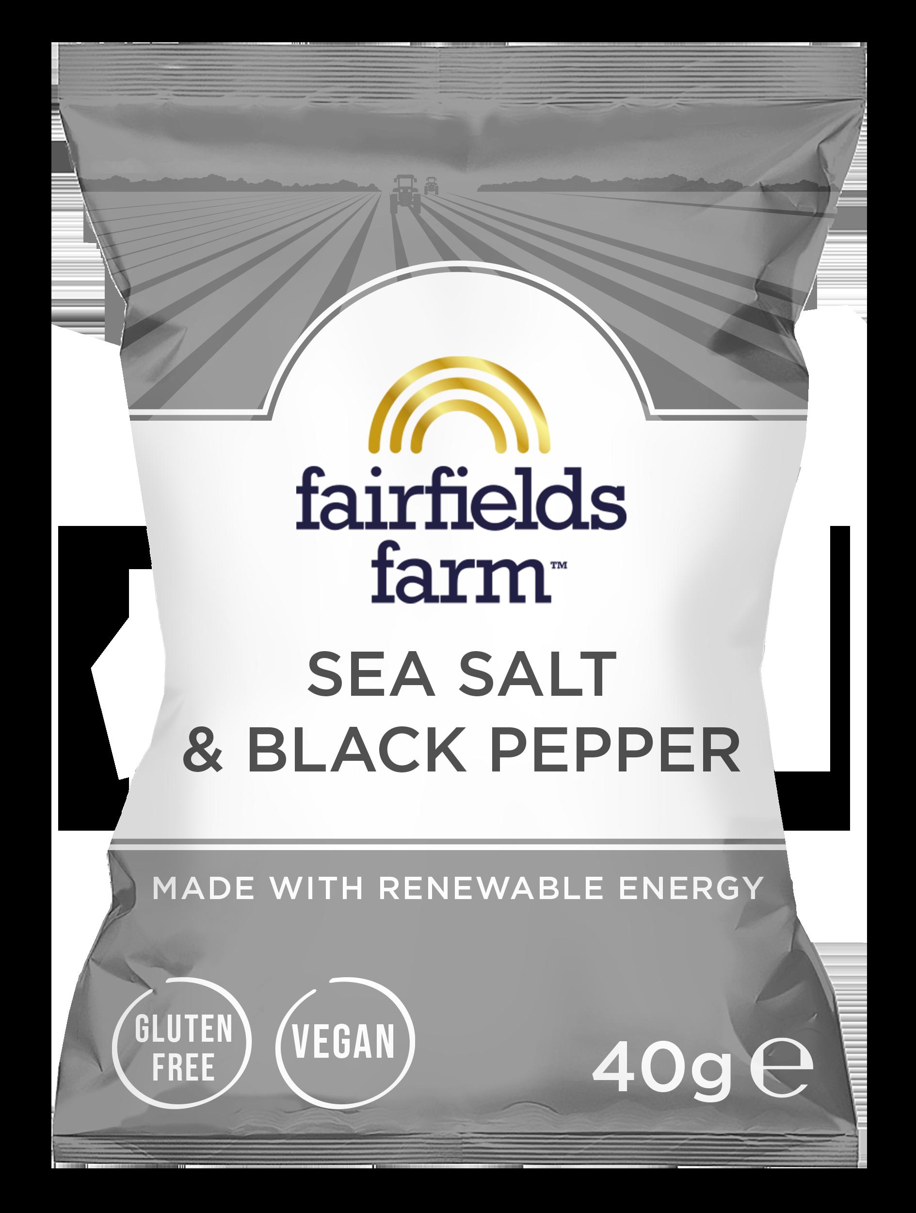 Fairfields 24 x 40g Bags – Sea Salt & Black Pepper