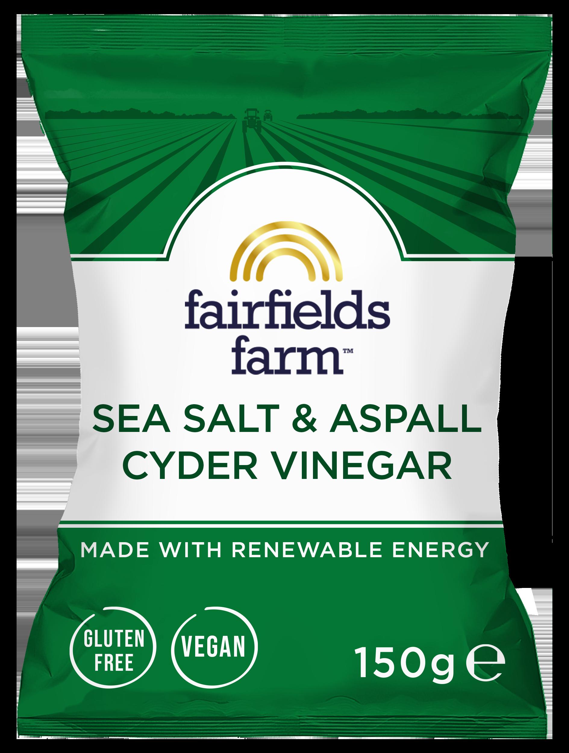 Fairfields 12 x 150g Bags – Sea Salt and Aspall Cyder Vinegar