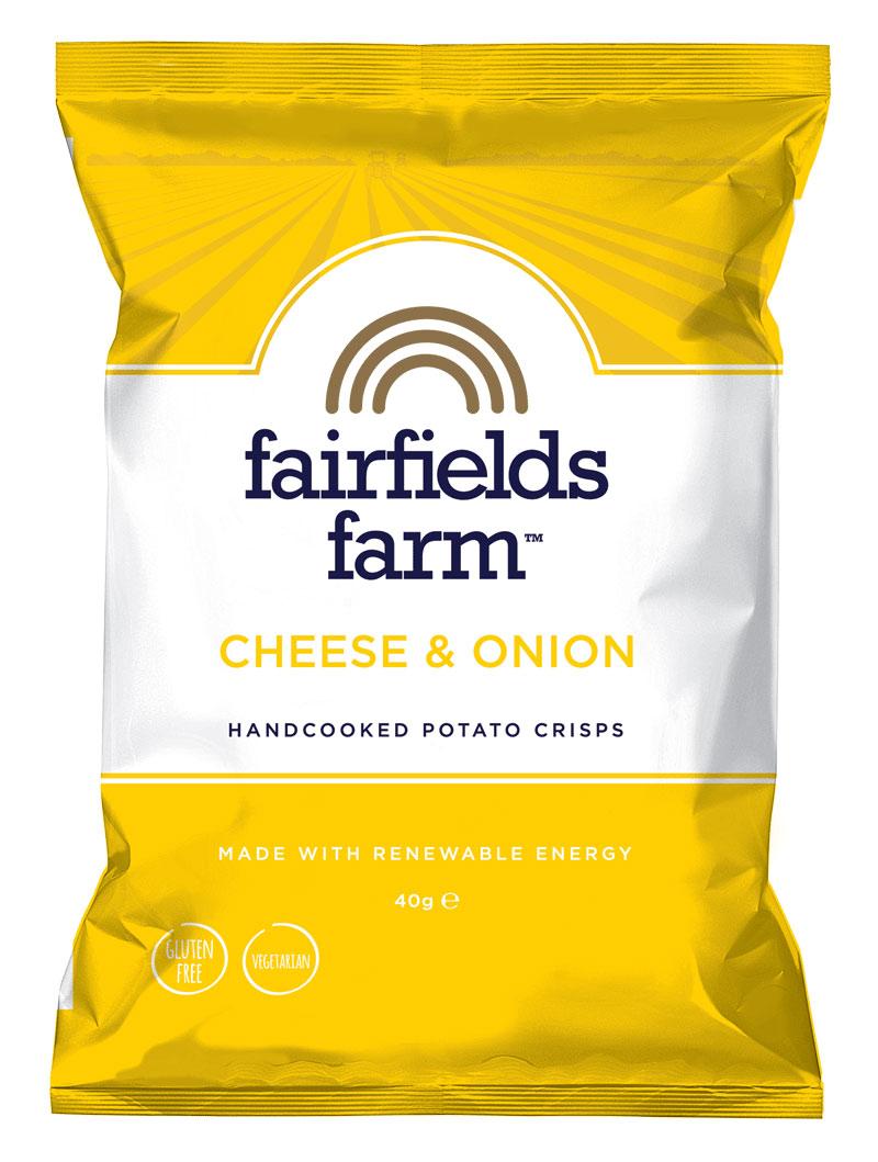 Fairfields 24 x 40g Bags – Cheese & Onion