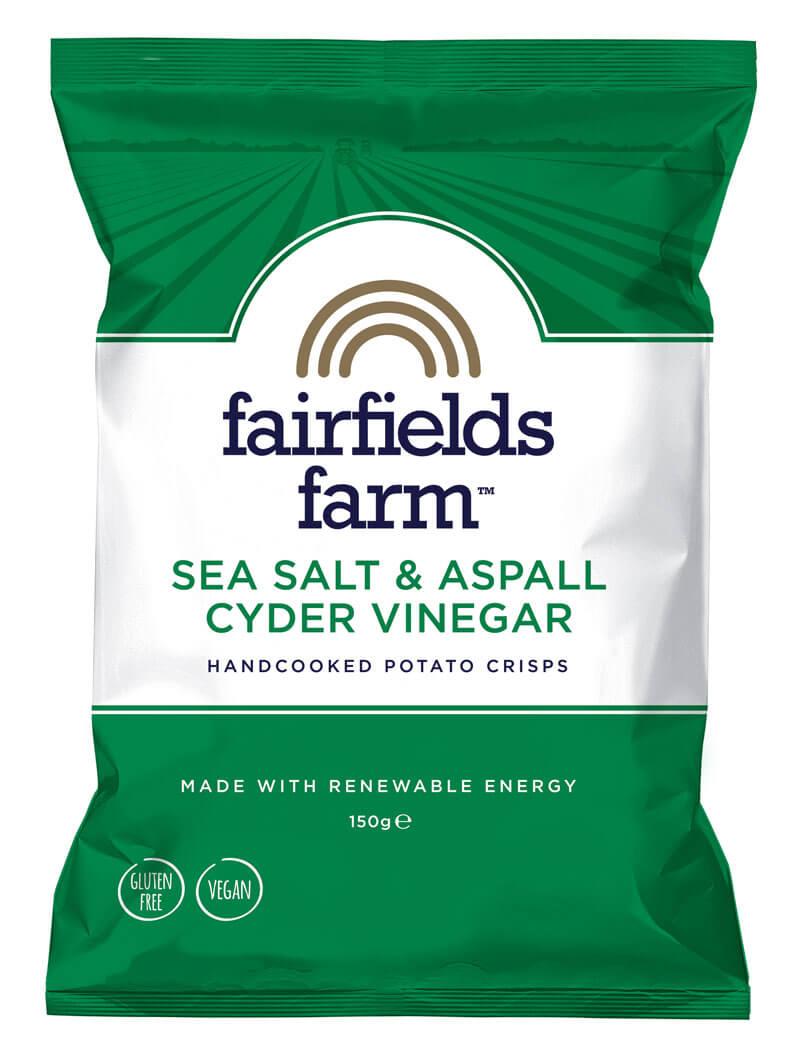 Fairfields 24 x 40g Bags – Sea Salt and Aspall Cyder Vinegar
