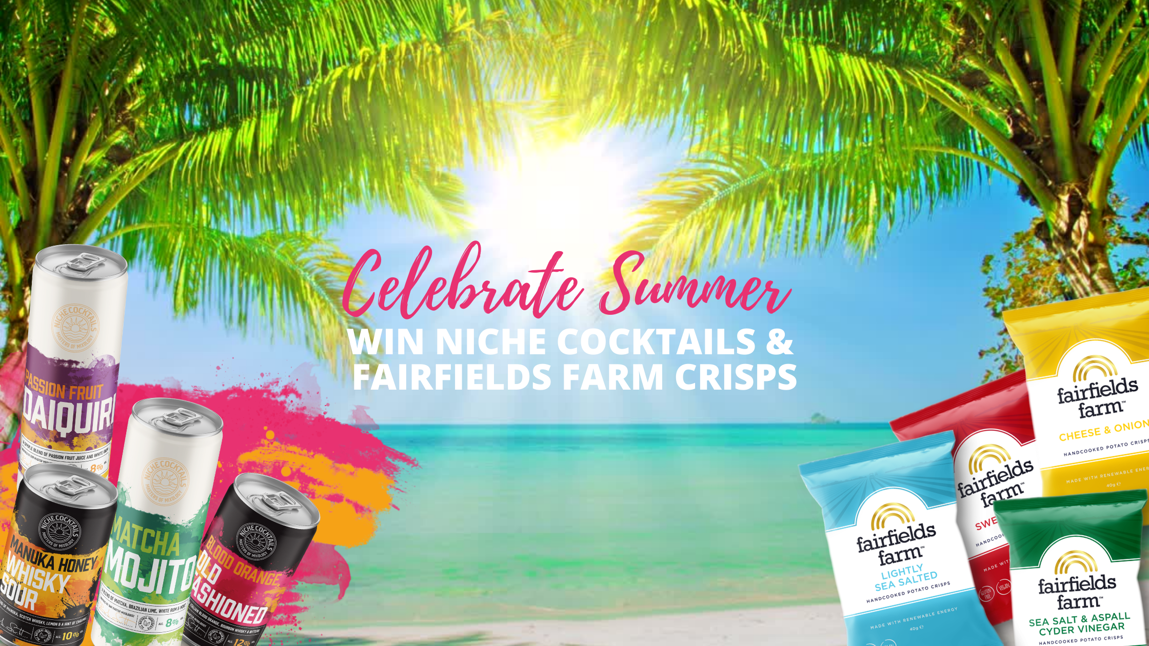 WIN Niche Cocktails & Fairfields Farm Crisps