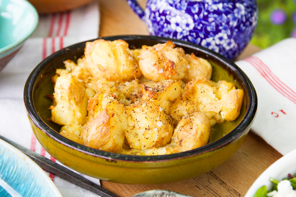 Guest Recipe: Crushed, Roasted New Potatoes With Garlic