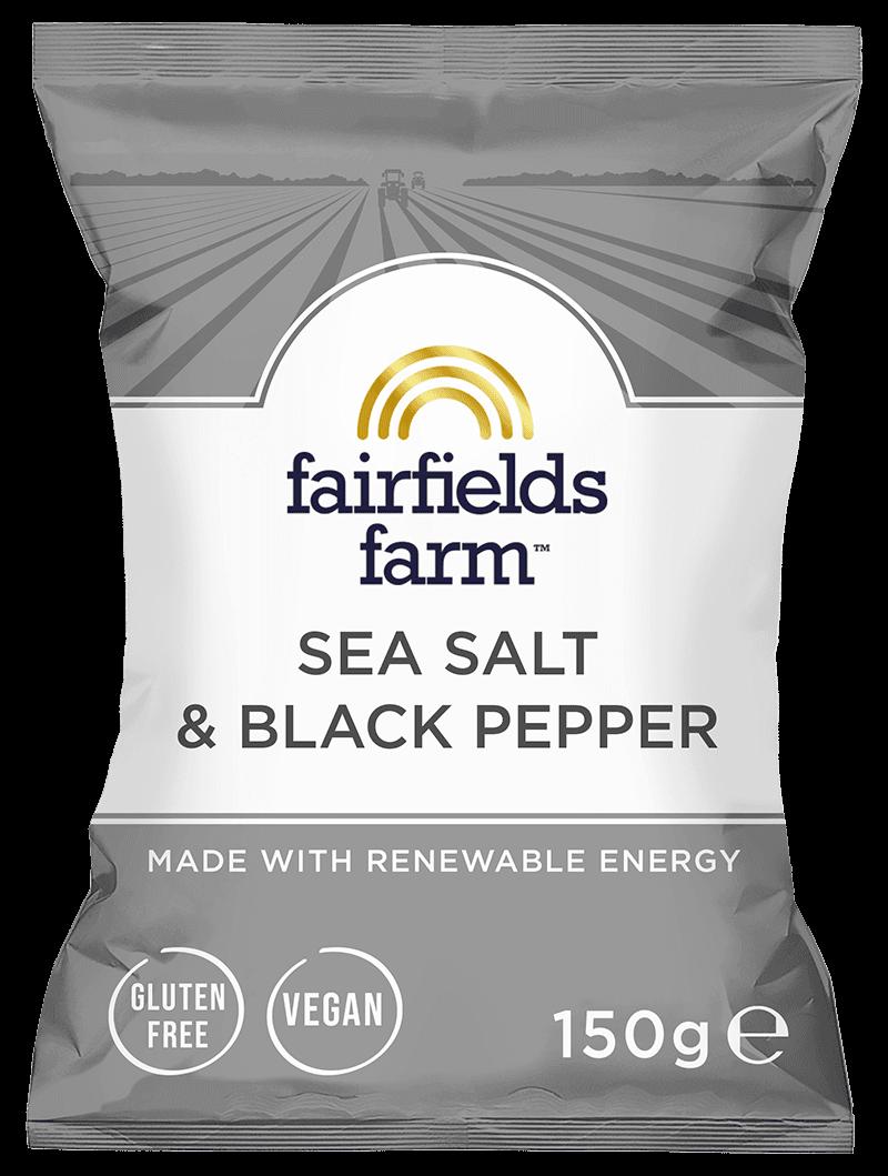 12 x 150g Bags – Sea Salt & Black Pepper