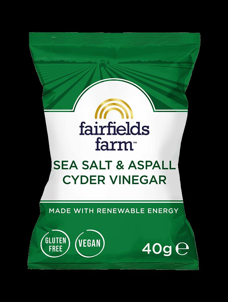 24 x 40g Bags – Sea Salt and Aspall Cyder Vinegar