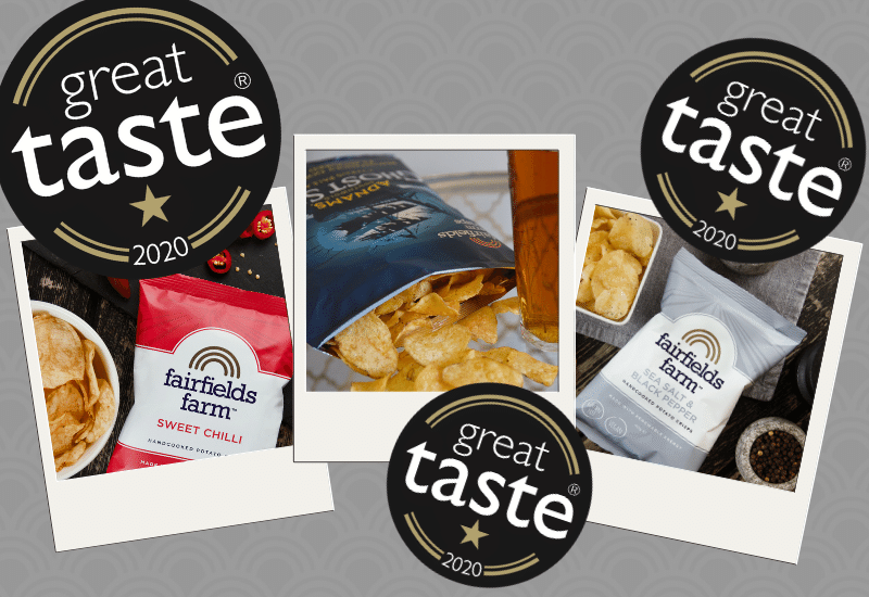 Fairfields Crisps Win 3 Great Taste Awards
