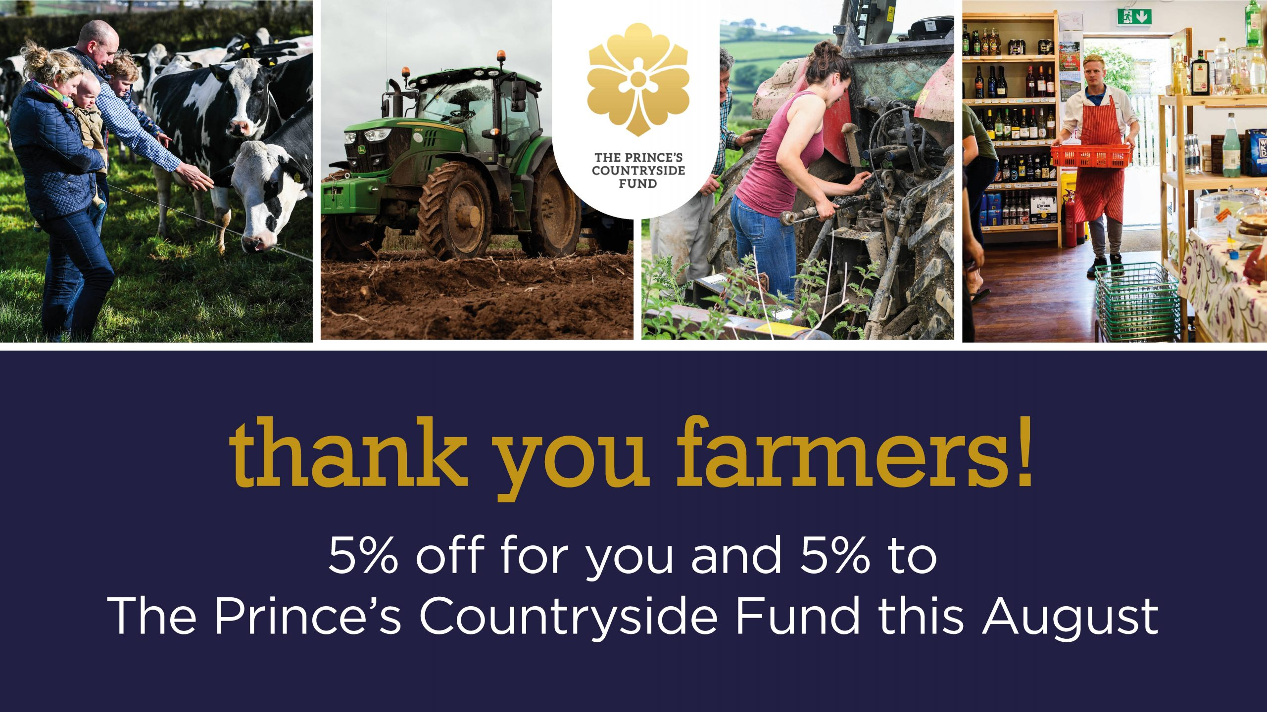 Thank You Farmers – You Save 5%, We'll Donate 5%